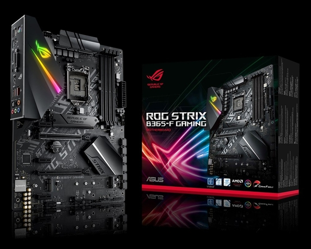 Плата ASUS ROG Strix B365-F Gaming снабжена RGB-подсветкой